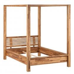 Pat baldachin LISA lemn stejar